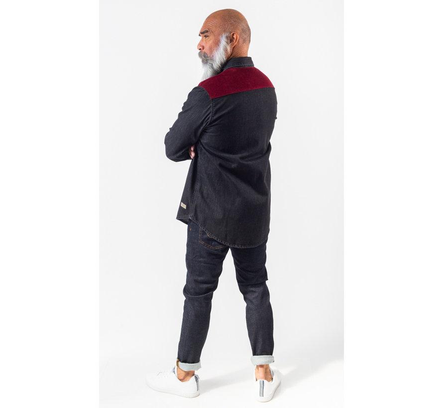 Jeans Overhemd Dapper Black Wash (AM1903-433-993)