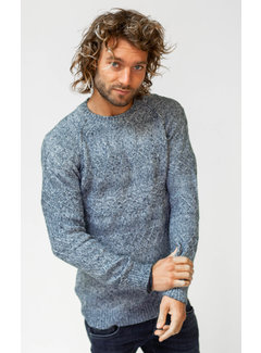 Amsterdenim Sweater Jozias Blauw (AM1903-582-515)
