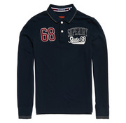 Superdry Lange Mouw Polo Classic Superstate Classic Eclipse Navy (M11002ER - 98T)