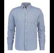 New Zealand Auckland Overhemd Lange Mouw Hawkins Blauw Print (19KN541 - 343)