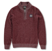 New Zealand Auckland Sweater Half-Zip Mangatewai Rood(19KN476 - 616)