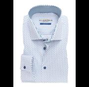 Ledub overhemd tailored fit print mouwlengte 7 (0137184-140-160-000)