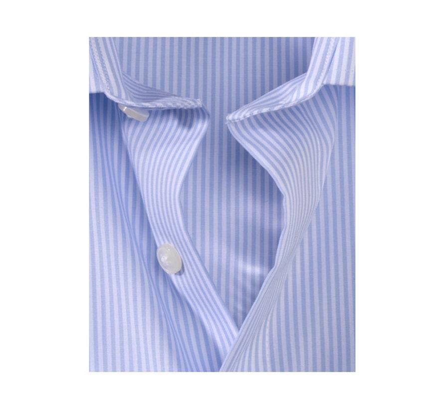 Overhemd Luxor Mouwlengte 7 Modern Fit Streep Blauw (0314 69 11N)