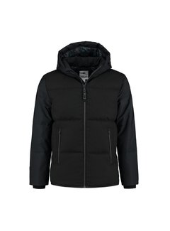 Dstrezzed Winterjas Hooded Puffer Jacket Zwart (101264 - 999)