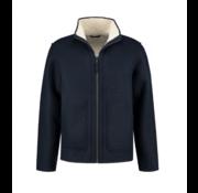 Dstrezzed Hooded Reversible Jacket Bonded Wool Dark Navy (151018D - 649)