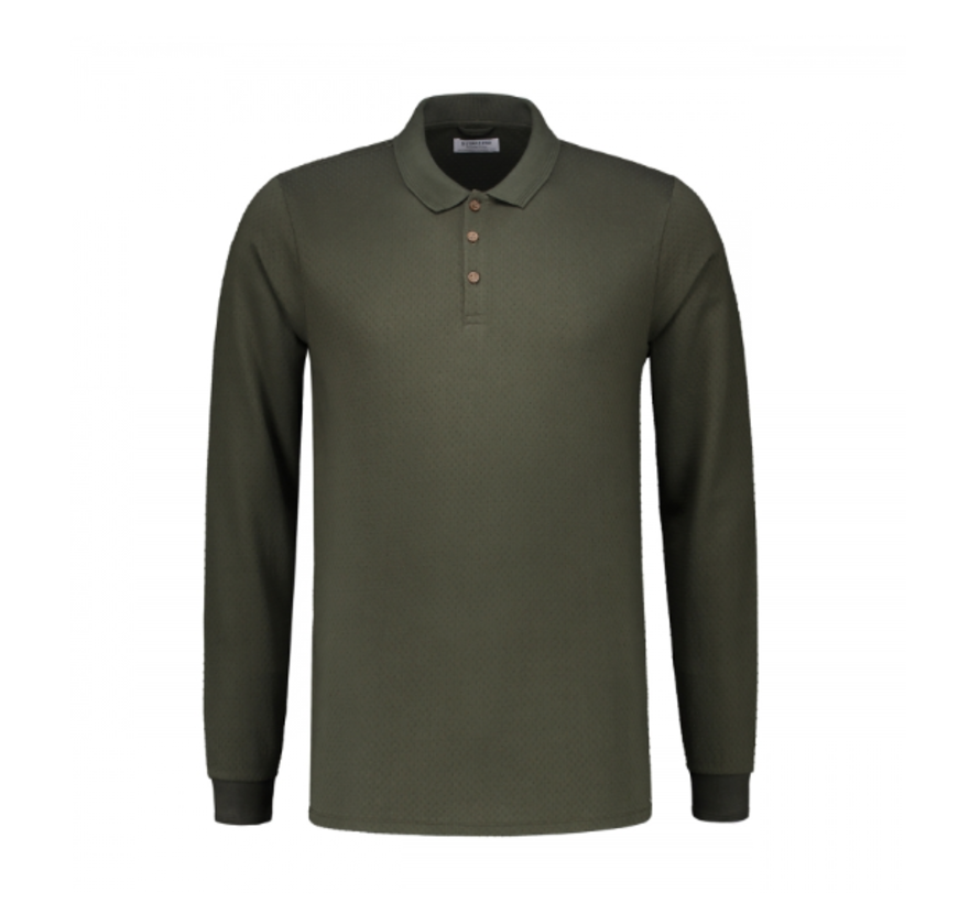 Polo Bubble Jersey Dark Army (202440 - 524)