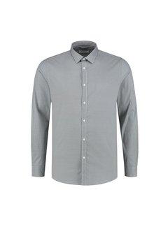 Dstrezzed Overhemd Regular Collar Circle Flower Lt Stretch Poplin White (303272 - 100)