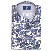 R2 Amsterdam Overhemd Print Blauw (107.WSP.027 - 014)