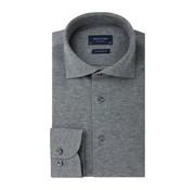 Profuomo Overhemd The Knitted Shirt Antraciet Grijs Melange (PP0H0A044)