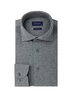 Profuomo Overhemd The Knitted Shirt Antraciet Grijs Melange (PP0H0A044)N