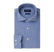 Profuomo Overhemd The Knitted Shirt Blauw Melange (PP0H0A050N)