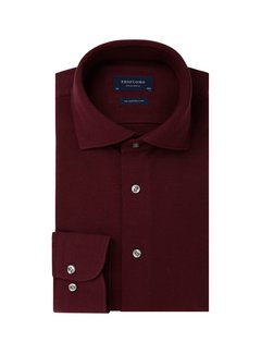 Profuomo Overhemd The Knitted Shirt Bordeaux Rood Melange (PP0H0A052)N