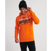 Superdry Vl Stripe Hooded Sweater Denver Oranje (M2000133A - TSW)