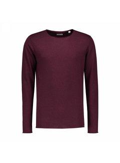 Dstrezzed Pullover Round Neck Cotton Modal Bordeaux Rood (404134 - 423)