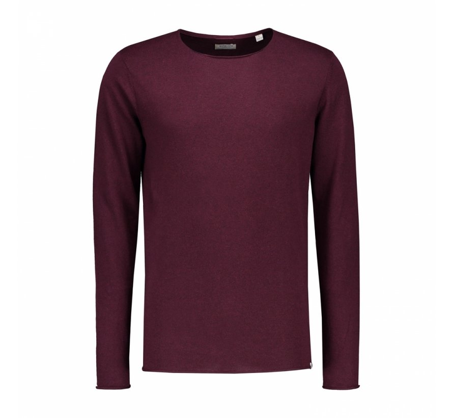 Pullover Round Neck Cotton Modal Bordeaux Rood (404134 - 423)