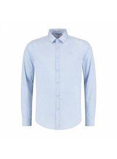 Dstrezzed Overhemd Belmondo Basic Shirt Stretch Poplin Lichtblauw (303126 - 646)