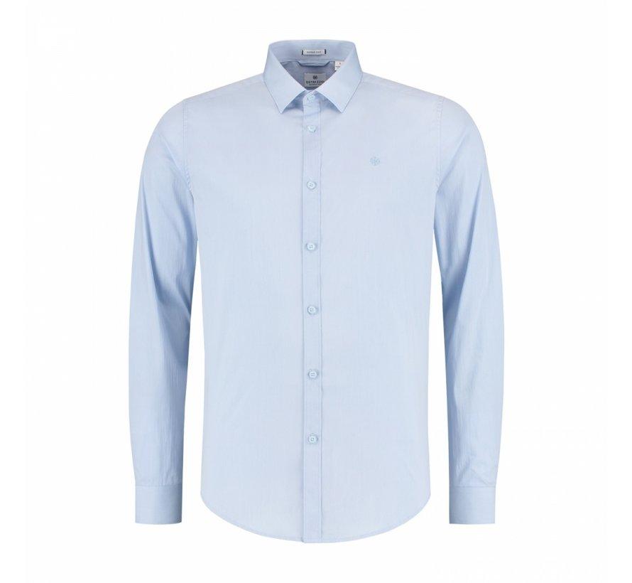 Overhemd Belmondo Basic Shirt Stretch Poplin Lichtblauw (303126 - 646)