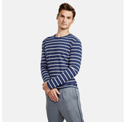 New In Town longsleeve t-shirt slim fit steep blauw (89N4008 - 475)