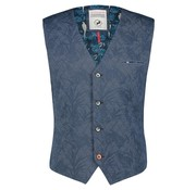 A Fish named Fred Gilet Blauw Met Print (92.02.135)
