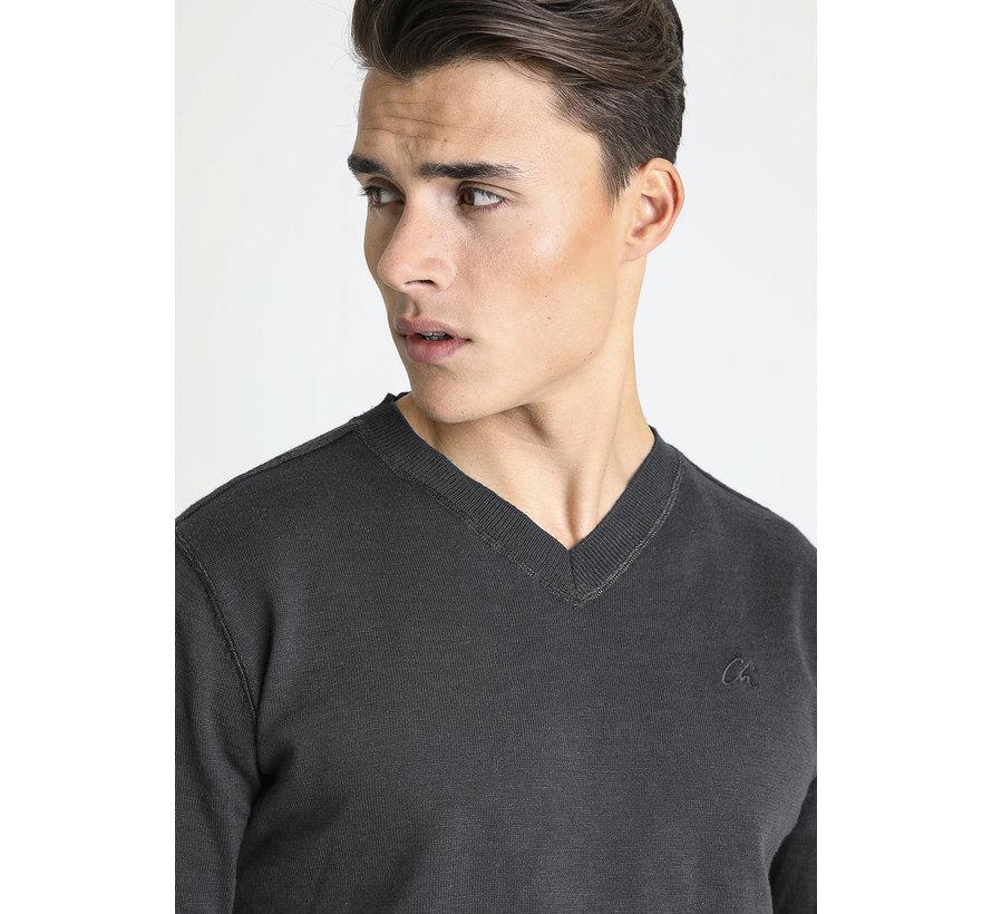 V-Hals Sweater Elias Antraciet (3112400001 - E80N)