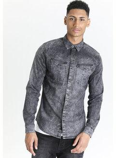 CHASIN' Overhemd Lange Mouw Prince Cove Grijs (6111400003-E81N)