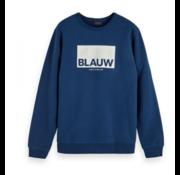 Scotch & Soda Sweater Logo Blauw (153583 - 0004)