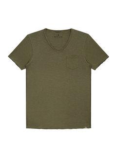 Dstrezzed V-hals T-shirt Army Green (202386 - 511)