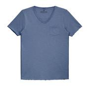 Dstrezzed V-hals T-shirt Indigo Blauw (202386 - 626)