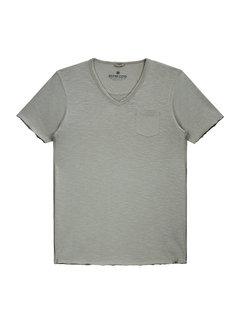 Dstrezzed V-hals T-shirt Grey Melange (202386 - 830)