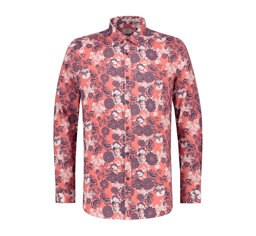 Overhemd Print Bloemen Coral (303208 - 428)