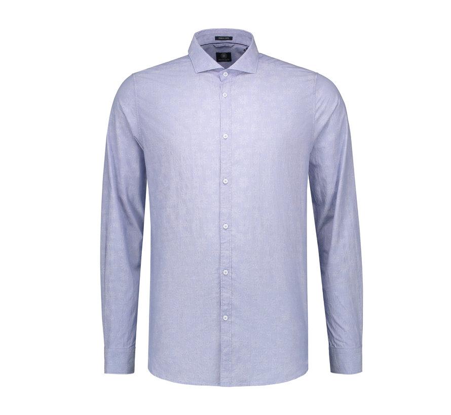 Overhemd Print Bloemen Licht Blauw (303220 - 625)
