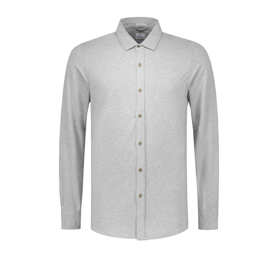 Jersey Overhemd Licht Grijs (303230 - 830)