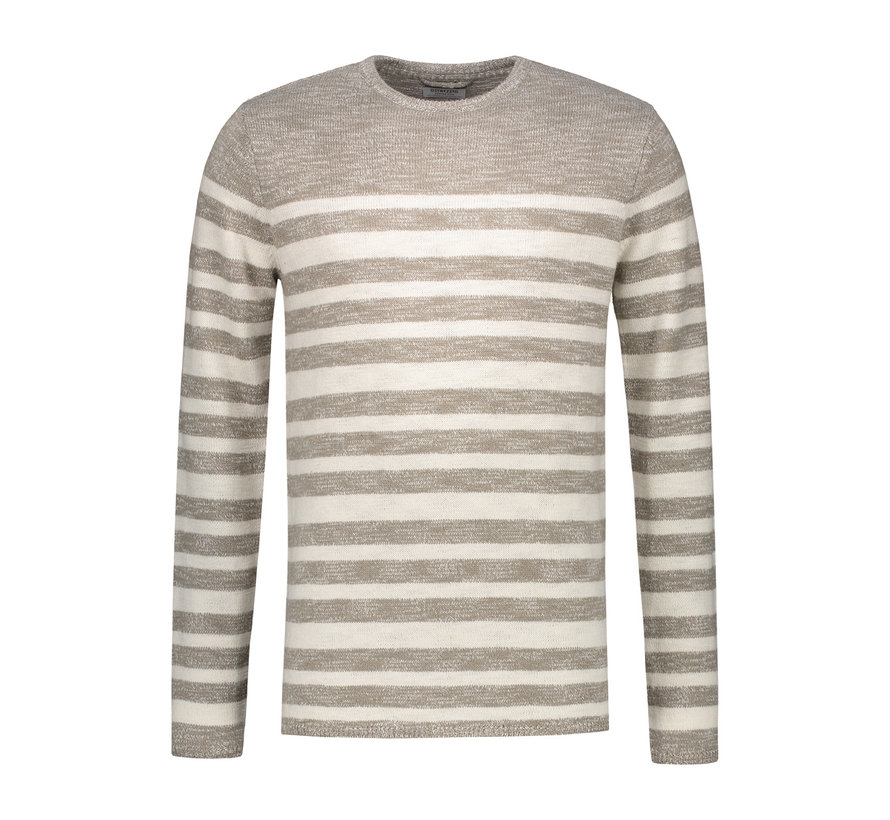 Sweater Gestreept Beige (404170 - 205)