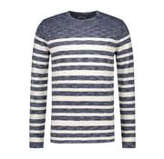 Dstrezzed Sweater Gestreept Navy (404170 - 669)