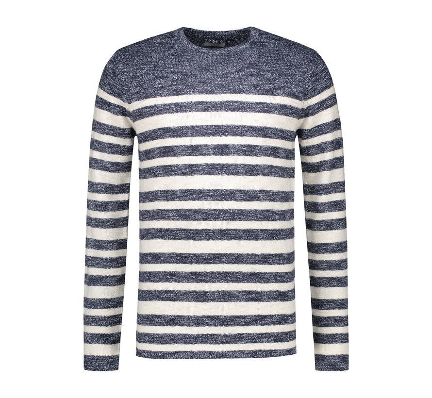Sweater Gestreept Navy (404170 - 669)