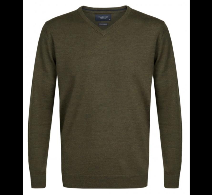 Pullover Merino V-neck Army (PP0J00209)N