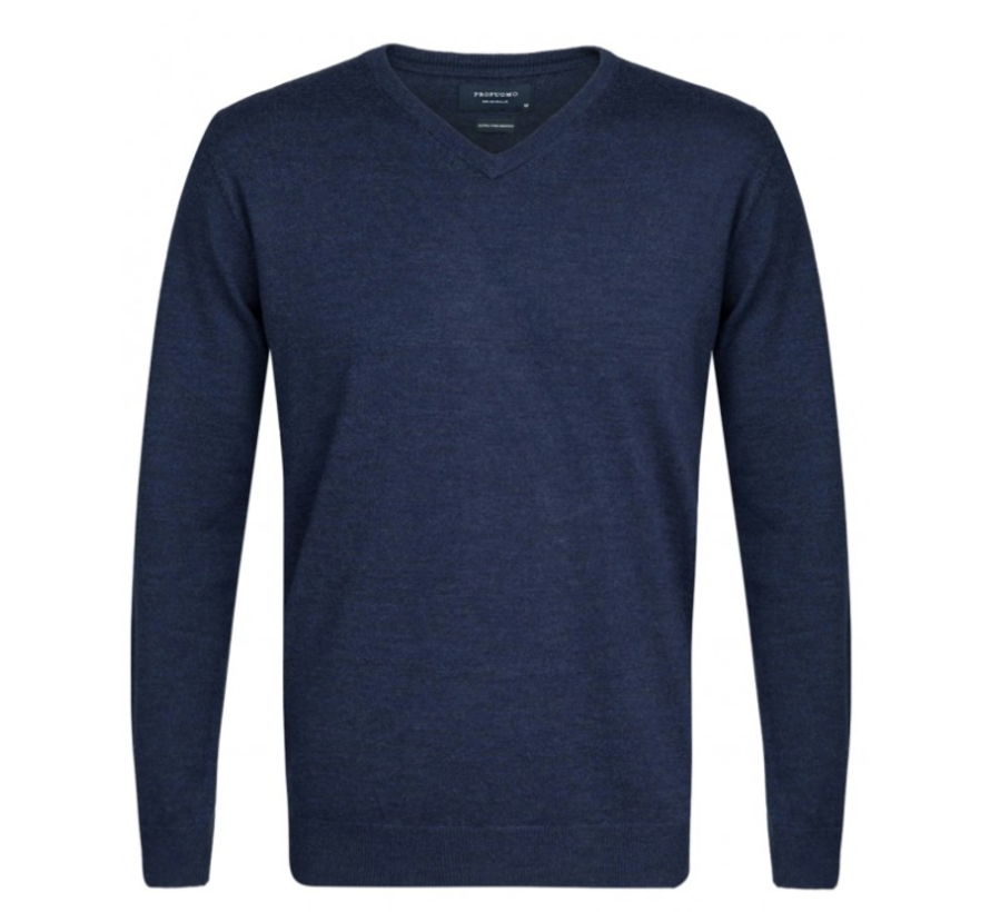 Pullover Merino V-neck Indigo (PP0J00204)N