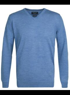 Profuomo Pullover Merino V-neck Blauw (PP0J00205)N