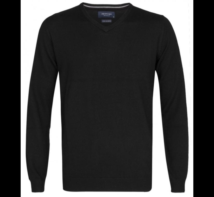 Pullover Merino V-neck Zwart (PP0J00200)N