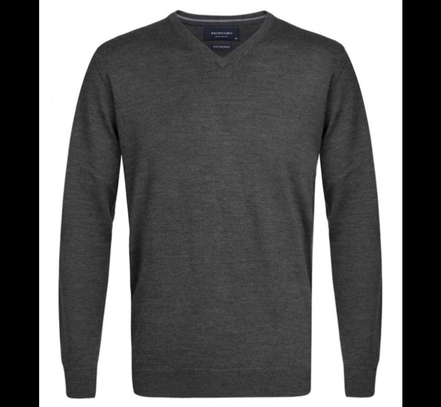 Pullover Merino V-neck Antraciet (PP0J00201)N