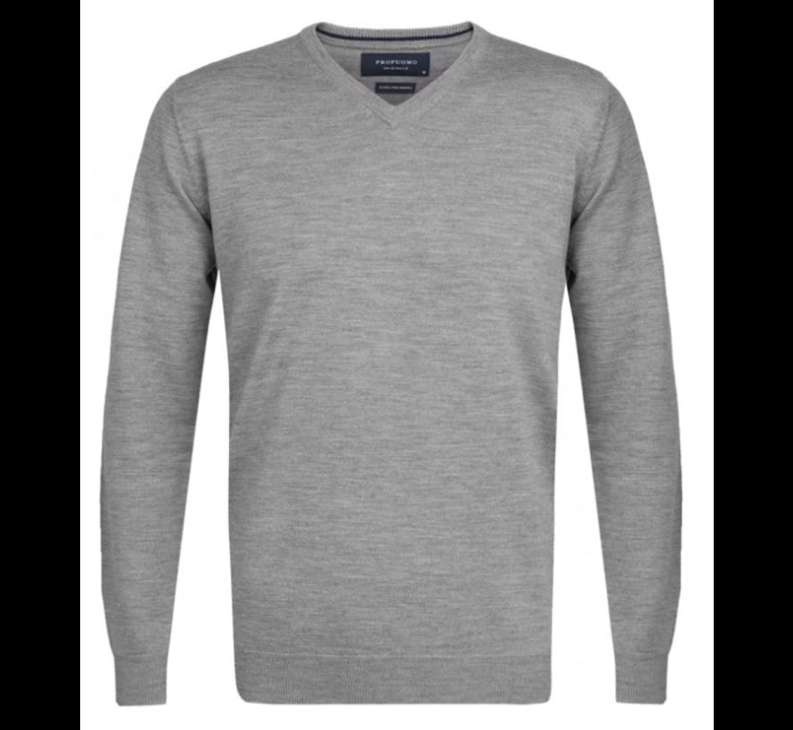 Pullover Merino V-neck Grijs (PP0J00202)N