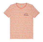 Dstrezzed T-shirt Gestreept Oranje/Wit (202362 - 439)
