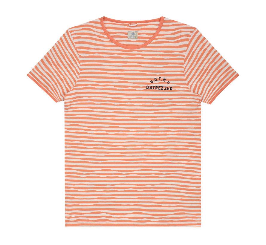 T-shirt Gestreept Oranje/Wit (202362 - 439)