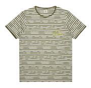 Dstrezzed T-shirt Gestreept Army Groen/Wit (202362 - 511)