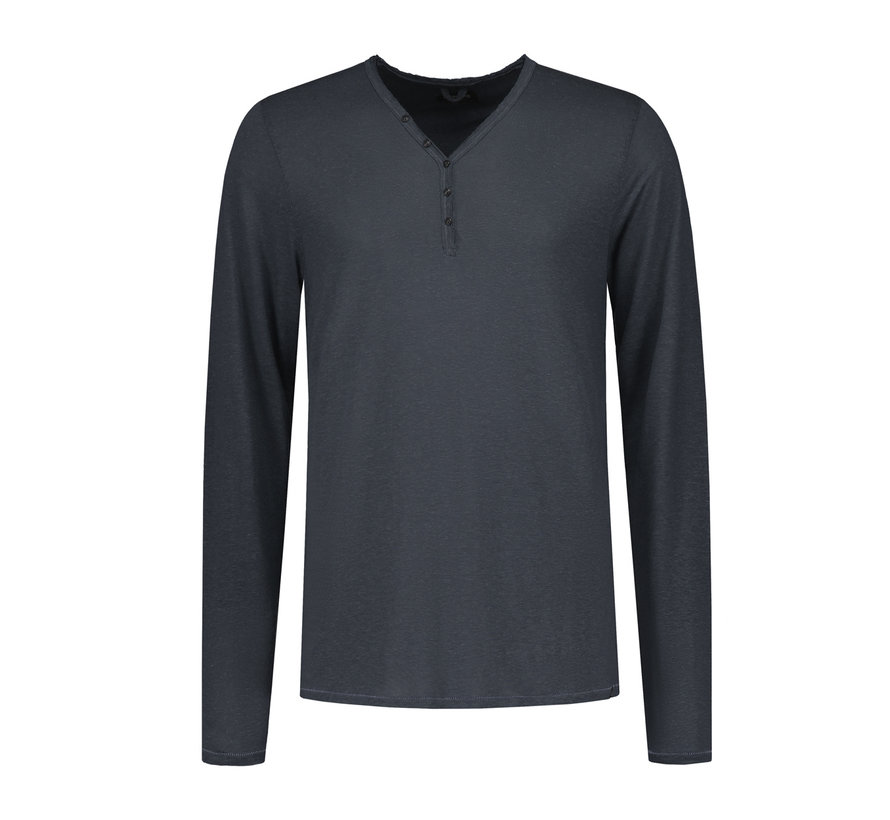 Longsleeve T-shirt V-hals Navy (202366 - 649)