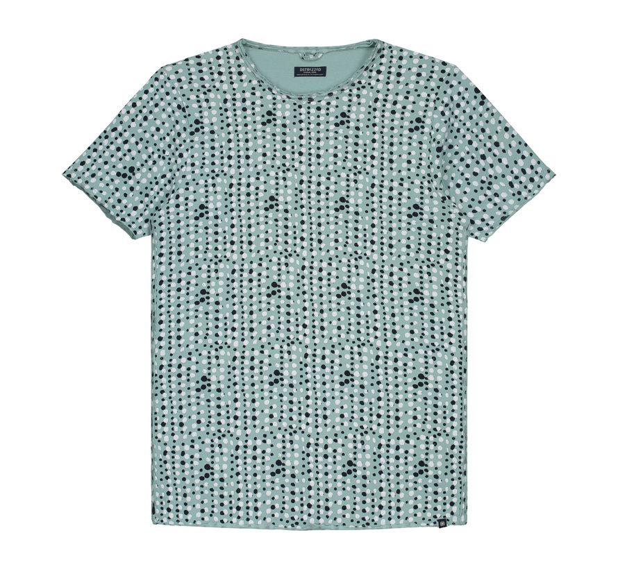 T-shirt Print Licht Groen (202375 - 521)