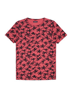 Dstrezzed T-shirt Print Palmbomen Coral Rood (202376 - 428)