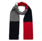 Tommy Hilfiger Sjaal Gestreept Navy/Rood/Wit (AM0AM05166 - 0G5)