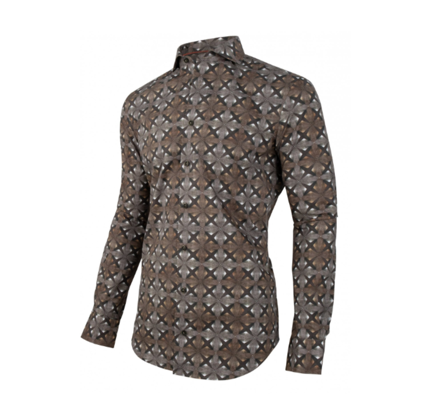 Overhemd Davinci Print Groen (1095035 - 53003)