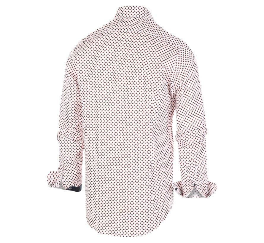 Overhemd Print Wit (1267.92)